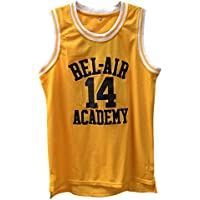 Fresh Prince Retro Basketball Jersey Will Smith Bel-Air Basketball Shirts #14 Yellow Black Hip Hop Throwback Jersey