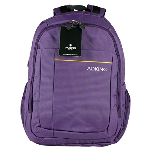 Rucksack Aoking Backpack Freizeit Sport Reise Outdoor, 48 cm, violett/lila (1057-07)