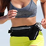 LeQeZe Running Belt Waistpacks with Water Bottle Holder Fitness Waterproof Bum Bag Cycling