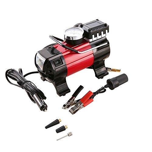 Coocheer Tragbare Luftkompressor-Pumpe 12V, 150 PSI Hochleistungsauto-Reifen-Luftpumpe 12V 168W elektrisch (rot)
