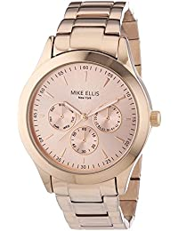 Mike Ellis New York Damen-Armbanduhr Analog Quarz Edelstahl SL4-60210A
