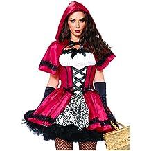 Leg Avenue - gótico del traje de Caperucita Roja, tamaño: L, Color: Rojo / Blanco