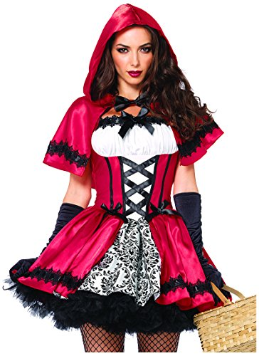 Imagen de leg avenue  85230x09096  disfraz para adultos  85230x modelo  plus size costume caperucita gótica  3x 4x  rojo / blanco