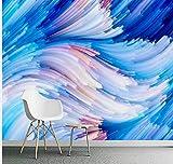 Personnalisé 3D Papier Peint Abstraite Photo Peintures Murales Pour Le Salon Chambre à Coucher Géométrique Ligne Bleue Wallpaper 3D Murales Moderne Papier Peint