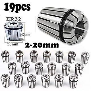 19pcs ER32Precision Frühjahr Spannzange Set für CNC Workholding Gravur & Fräsen Drehmeißel bisschen langweilig, 220mm, violett