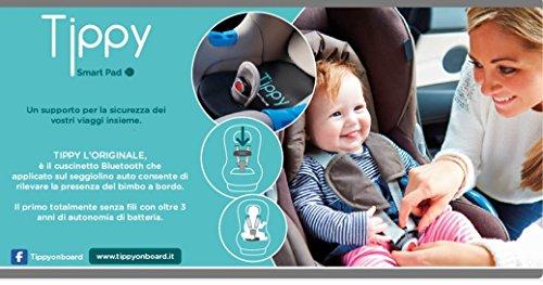Digicom 8E4610 - Tippy Smart Pad Cuscino Di Sicurezza Per Seggiolini Bambini, Nero