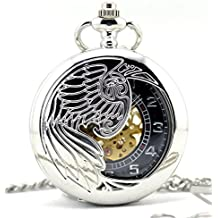 Infinite U Esqueleto Hueco Águila/Ángel/Fénix Colgante Collar Reloj de Bolsillo Mecánico