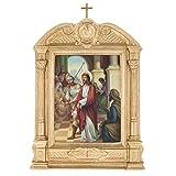Holyart Vía Crucis Altar Madera XV Estaciones