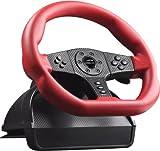 Speedlink Carbon GT Lenkrad für PC/PS3 (Schaltknauf, Gas- und Bremspedale, Vibrationsfunktion, Lenkbereich von 250 Grad)