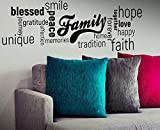 Family Home Hope Memories Quote Decal Happy Vinyl Modern Sticker Smile Picture