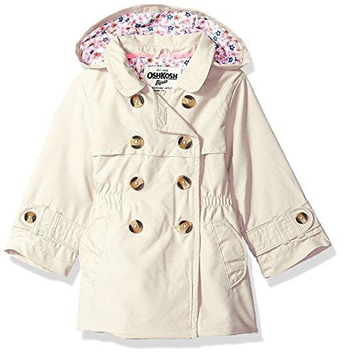 Osh Kosh Baby Girls Hooded Trench Coat, Khaki Pebble, 18M Oshkosh Khaki