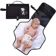 iRegro Cambiador Portátil de Pañales para Bebé - Impermeable Kit Cambiador de Viaje - Esterilla Lavable de Quita y Pon - Para Usar Fuera de Casa