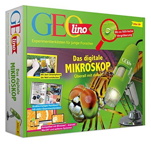 FRANZIS GEOlino Das digitale Mikroskop  überall mit dabei   Bis zu 500-fache Vergrößerung   Ab 8 Jahren