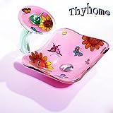 Kinder Kinder Schmetterling Gehärtetem Glas Handwaschbecken Gehärtetem Glas Container Waschbecken Waschbecken Set (L370mm * W295mm * H125mm * T12mm)