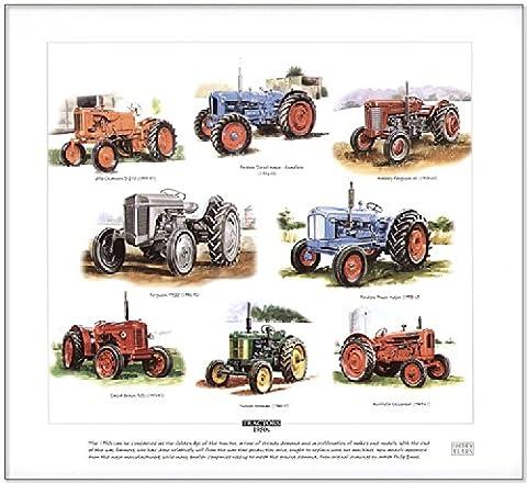 Tracteurs de Les années 50Fine Art Imprimé–-- Ferguson, Fordson, David