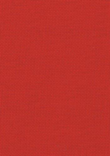 Fat Quarter 14Count Weihnachten rot Aida Kreuzstich Stoff–50cm x 55cm
