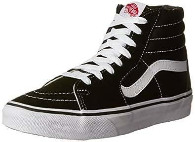 Vans Sk8-Hi, Unisex-Adults' High-Top Trainers, Black(Black/White), 4 UK (36.5 EU)