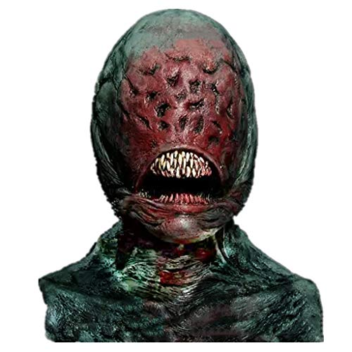 Kind Raum Kostüm Geist - Alien Alien Horror Maske Biochemische Variation Monster Horror Thriller Halloween Maske, Zombie Kostüm Party Latex Maske für Halloween