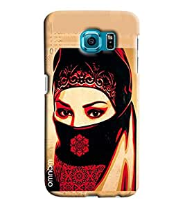 Omnam Girl Having Face Shy Printed Designer Back Cover Case For Sumsang Galaxy S7 EDGE