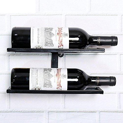 Z&HAO Weinregal, Eisen mit Wein-Wohnzimmer-Schrank REGAL 2 Bottles of Black