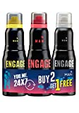 #10: Engage Deodorant for Men, 150ml Buy 2 Get 1 Free (Urge, Rush & Frost)