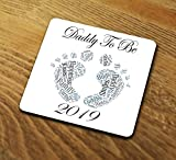 Daddy To Be 2019 Coaster Gift Baby Thank You Best Dad Father Fathers Day