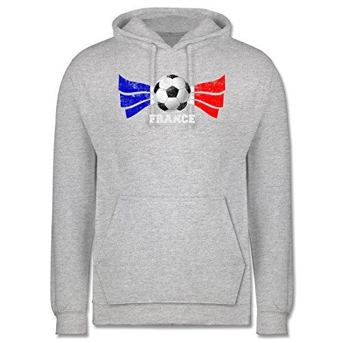EM 2016 - Frankreich - France Fußball Vintage - Männer Premium Kapuzenpullover / Hoodie Grau Meliert