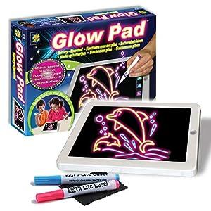 Amav-Pizarra-Portátil de alta tecnología tablero de dibujo juguete tablet-size con 7luces de interchanging de parpadear colorido