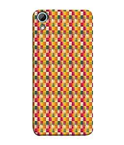 FUSON Designer Back Case Cover for HTC Desire 826 :: HTC Desire 826 Dual Sim (Seamless Pattern Blue Design Drawing )