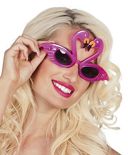 Gafas flamenco rosa adulto - Única