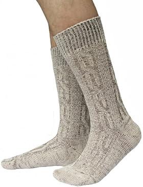 Kurze Trachtensocken Trachtenstrümpfe Zopf muster Socken 44cm Meliert