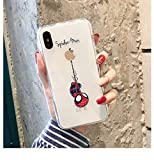 Funny Cartoon Phone Case for iPhone X XS Max XR Cute Cat Tom Cover for iPhone 8 7 6 6S Plus Soft Silicone Transparent Case for iPhone 6/6s Spiderman