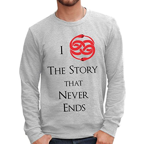 Sweatshirt Love Auryn Never Ending Story - Film By Mush Dress Your Style - Herren-XXL Grau