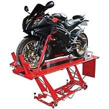 BIKETEK Mesa de elevación hidráulica para motocicleta, para realizar trabajos mecánicos