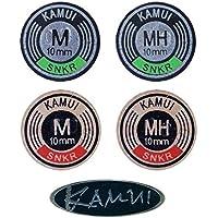 Kamui - Punta de snoker, color negro, disponible en varios tamaños y densidades S2026, MEDIUM, 10 mm
