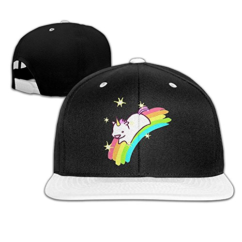 SHKUK Rainbow Cutie Baby Unicorn Fashion Baseball Adjustable Hip Pop Hat Cool Baseball Cap Fitted Hats Unisex,men And Women Red