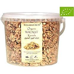 1.1 kg Bio, Organisch Walnüsse Kerne, Frisch, Ganze Hälften Prämie-Klasse in Sicherheit Kübel Verpackung - Bulgarian Nuts