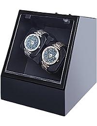 jianbo Automático Caja para Relojes Watch Winder 2 + 0 Watch Display Marco de la Decoración de Lujo, 5 modos de temporizador Motor Silencioso Premium H119 , 3
