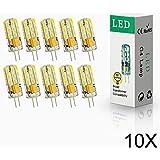 ELINKUME 10x G4 4W LED 24* 2835 SMD Lámpara Bombilla 3000K Luz Blanco Cálido lámpara blanco cálido 12V AC/DC.Ensure Los productos funcionan sin problemas, por favor use el transformador LED AC/DC12V.