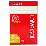 Universal Colored Perforated Note Pads, Narrow Rule, 5