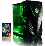 VIBOX Centre 4 Desktop Gaming PC - with WarThunder Game Bundle (4.0GHz AMD FX Quad Core Processor, Nvidia Geforce GTX 750 Graphics Card, 1TB Hard Drive, 8GB RAM, Corsair Spec 01 Black Gamer Green Case, No Operating System)