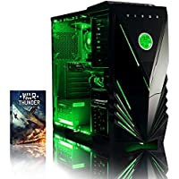 VIBOX Centre 4 Desktop Gaming PC - with WarThunder Game Bundle (4.0GHz AMD FX Quad Core Processor, Nvidia Geforce GTX 750 Graphics Card, 1TB Hard Drive, 8GB RAM, Corsair Spec 01 Black Gamer Green Case, No Operating System)