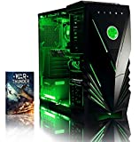 VIBOX Recon 11 Desktop Gaming PC - with WarThunder Game Bundle (4.0GHz AMD A4 Dual Core Processor, Radeon R7 250 Graphics Card, 1TB Hard Drive, 8GB RAM, Green Gamer Case, No Operating System Included)