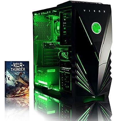 VIBOX Apache 1 - Ordenador para Gaming (AMD FX-6300, 8 GB de RAM, 1 TB de Disco Duro, AMD Radeon R7 250) Color neón Verde