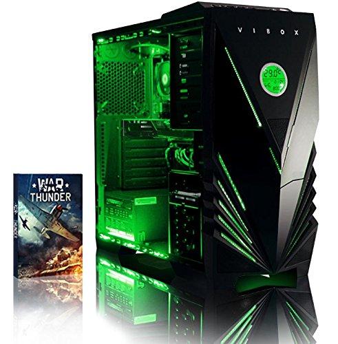 Vibox VBX-PC-00522 Centre 4 Gaming Desktop-PC (AMD Phenom Quad Core FX-4300, 8GB RAM, 1TB HDD, NVIDIA Geforce GTX 750, kein Betriebssystem) grün