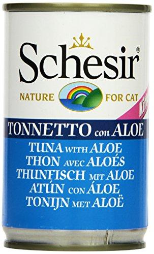Schesir Gatto mangime Kitten Tonno e Aloe Barattolo da 140G, Confezione da (8X 140G)