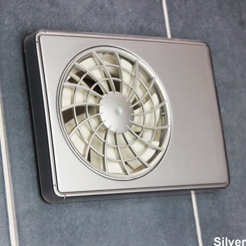 Ifan - Silent Extractor Fan With Intellectual Electronic,timer, Humidistat, Speed Control And Remote Control - (SILVER)