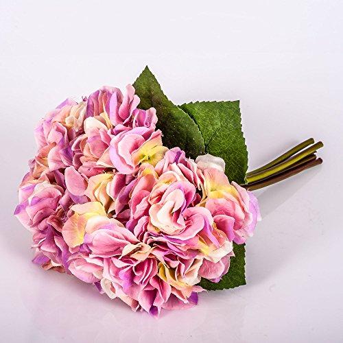 Ramo KLARA de hortensias artificiales, rosa, 30 cm, Ø 18 cm - Flor sintética / Planta decorativa -