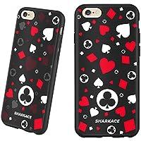 iPhone 6case, Sharkace ultra Fit antiurto morbido TPU custodia in gomma con colori vivaci 3D stampato modello di Poker per iPhone 6/6S 11,9cm Glitter of poker