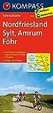 Nordfriesland - Sylt - Amrum - Föhr: Fahrradkarte. GPS-genau. 1:70000 (KOMPASS-Fahrradkarten Deutschland, Band 3001)